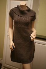Womens Jrs MUDD Heather Brown Cap Sleeve Cowl Neck Casual Sweater Dress  L  NWOT