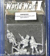 Artizan SW322: 28mm US Airborne Characters and Specialists I (4 Figures)