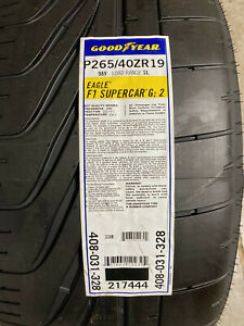 1 New 265 40 19 Goodyear Eagle F1 Supercar G2 Right Side Tire