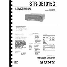 Sony STR-DE1015G Stereo Receiver Service Manual (Pages: 76) 11x17 Drawings