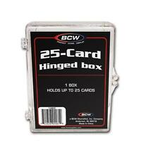 1/2 case of 50 - BCW Brand 25 Card Storage Plastic Case Hinged Snap Box - hb25