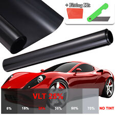 Universal Fit Kit 3m x 50cm Black Car Van Limo Window Tint Film Reduce Sun Glare