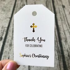 Baptism Christening Thank You Gift Tags Labels Personalized Favor Tags Favors