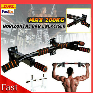 ✅Gym Pull Up Bar Exercise Bar Heavy Duty Wall Chin Up Bar Mounted Home Work