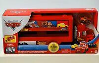NEW Disney Pixar Cars Mini Racers Mack Transporter Hauler  Lightning McQueen