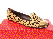 Tory Burch Kaitlin Smoking Flats Cheetah Print/Gold Size 9