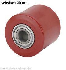Hubwagenrad 82 mm Polyurethan Breite 70 mm Achsloch 20 mm Hubwagenrolle Rolle