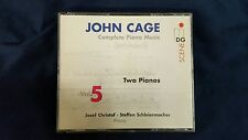 CAGE JOHN - COMPLETE PIANO MUSIC VOL. 5 TWO PIANOS. BOX 2 CD