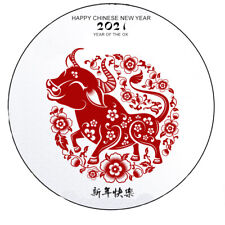 24 Edible Rice Paper Cake Decorations - Chinese New Year  year of the ox