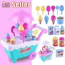 Kids Girl Mini Ice Cream car Cake Food Pretend Play Set Cart Shop Toy