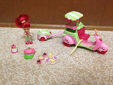 Strawberry Shortcake Goodies To Go Scooter Food Doll Lot