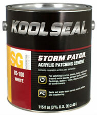 Kool Seal KS0085100-16 Acrylic Instant Roof Patching Cement, White, 0.9 Gallon