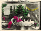 Vintage Russian tinted collage photo WOMAN CHILD BABY ANGEL