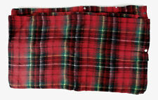 Tennessee Woolen Mills Cozy Red Plaid Wearable Robe Snap Snuggle Blanket