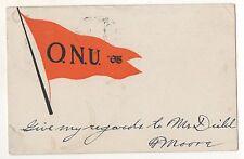 ONU OHIO NORTHERN UNIVERSITY Pennant, Ada OH, Vintage 1907 Ohio Postcard