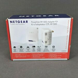 Netgear Powerline AV 500 Adapter Kit Pair XAVB5001-100NAS Internet Extender