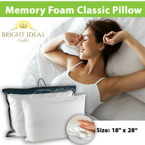 Luxury Memory Foam Pillow Core Orthopedic Extra Support Firm Bed Pillow Only NEW