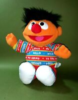 "☆ RARE ! 17"" Bilingual Talking Ernie Sesame Street 1995 Tyco Plush Toy"
