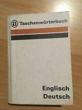 2x Taschenwörterbuch Englisch-Deutsch (Verlag Enzyklopädie Leipzig, DDR, 1980)
