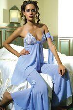 Velabella Lingerie Sexy Ensemble Pyjama Bleu T 3 Top Pantalon