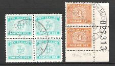 NEW ZEALAND 1939 DUES 1/2d & 3d 'FINE USED' MULTIPLES (F)