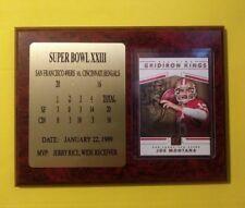 Immaculate Joe Montana SUPER BOWL PLAQUE Inc. All-Time Gridiron Kings card