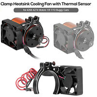 Metal Motor Radiator Dual Fans Cooling for TRAXXAS 1//10 SUMMIT E-REVO RC Car
