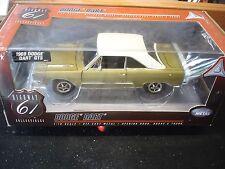 1/18 -Highway 61 - 1969 Dodge Dart - GTS - Gold/White w/Black