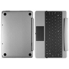 Skinomi Carbon Fiber Silver Skin for Asus EEE Pad Transformer Prime Keyboard