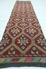 """Hallway Rug, Vintage Turkish Carpet Runner, Aisle Rugs, Stairs Long Rug 30""""x122"""""""
