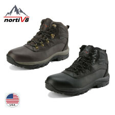 NORTIV 8 Men lnsulated Waterproof Construction Hiking Outdoor Winter Snow Boots