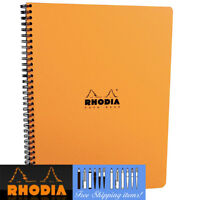 Rhodia Notebook GRID A4 Wirebound Orange cover 80 sheets Paper Note pad