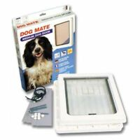 Dog Mate Pet Dog Door Flap Dogs & Cats Medium White 215 215W Flap size 26 x 22cm