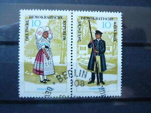 DDR 1964 W Zd 146 Zusammendruck Mi.Nr. 1076/1077 gestempelt