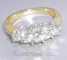 Diamond 5-stone Engagement Ring 1.00ct VS2 Round Brilliant Cut in 18ct Gold