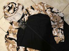 NWT NIKE Men's BIG TALL CAMOUFLAGE Full Zip Fleece Hoodie Sweatshirt BLACK TAN