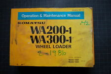 KOMATSU WA200/300 Wheel Loader Operation/Operator Maintenance Manual 1986 guide