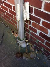 """3 Vintage Wood  White Handle Ice Fishing Scoops 1950'S 26"""" X 4"""""""
