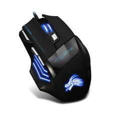 5500DPI LED 7-Color Optical USB Wired Gaming Mouse 7 Buttons Gamer Computer Mice
