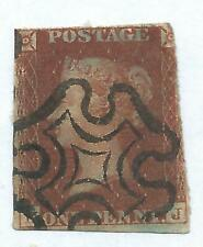 Queen Victoria Stamp 1841 Penny Red Imperforate MX Cancel r6277