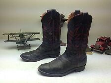 VINTAGE AUSTIN HALL BOOT CO. EL PASO TEXAS BLACK LEATHER ENGINEER BOOTS 9-9.5 E