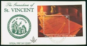 Mayfairstamps St Vincent FDC Music Notes Wolfgang Mozart First Day Cover wwo_601