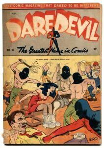 Daredevil Comics #27 1944- Classic torture cover- CLAW G+