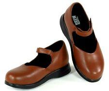 Womens Drew Lori II Mary Jane Shoes Flats  Sz 7 W Leather Cognac Orthopedic