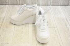 Volatile Cash Leather Wedge Fashion Sneakers, Women's Size 5.5, White