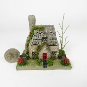 Miniature Handmade CUTE English Stone Fairy Cottage  OOAK By O'Dare