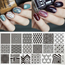 BORN PRETTY 12*6cm Nail Art Plaque Rectangle de Stamping Forme de Triangle L040