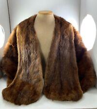 VintageMink Fur Stole Wrap Cape Shrug Un Branded Real Beauty