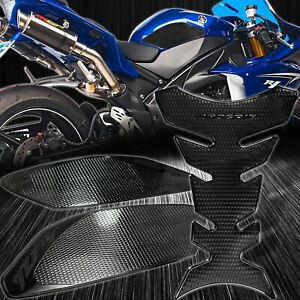Black Side Traction Knee+Pro Fuel Tank Pad Grip Sticker Protector 09-14 YZF-R1