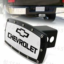 """For 2"""" Trailer Receiver For CHEVROLET CHEVY LOGO Hitch Cover Plug+ALLEN BOLTS BK"""
